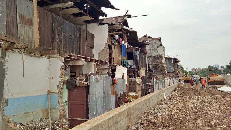 Kondisi Rumah Warga yang Tergusur di Bukit Duri