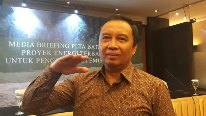Senior Advisor dan Juru Bicara PT North Sumatera Hydro Energy (NSHE) Agus Djoko Ismanto