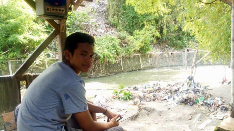 Angger Rio, anak korban longsor Yogyakarta