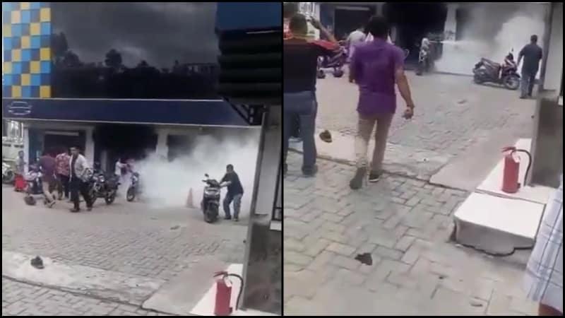 Warga nekat bakar Kantor Leasing di Medan