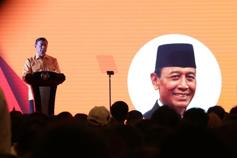 Wiranto dalam Musyawarah Nasional Luar Biasa Partai Hanura
