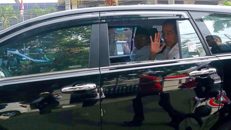 Jokowi dan Maruf Amin, KPU