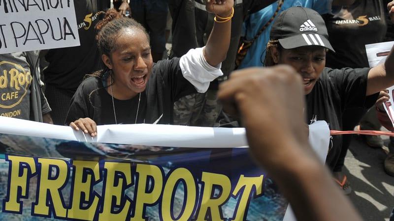 Demo mahasiswa tolak Freeport