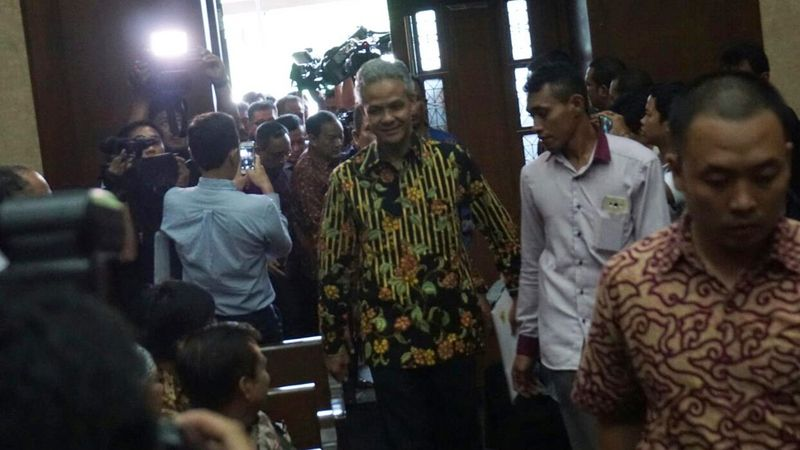 Ganjar Pranowo di Sidang e-KTP