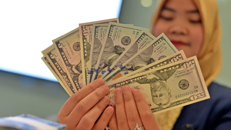 Pecahan uang dolar AS