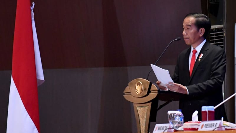 Joko Widodo di Rapim TNI-Polri