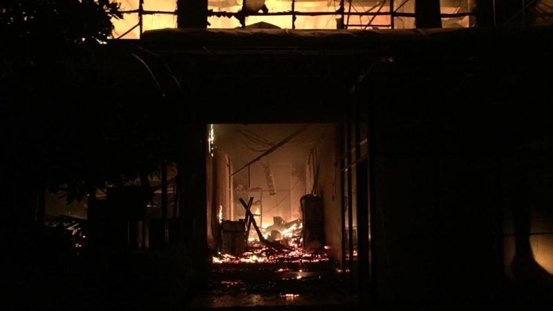 Kebakaran kantor PLN Jakarta Utara
