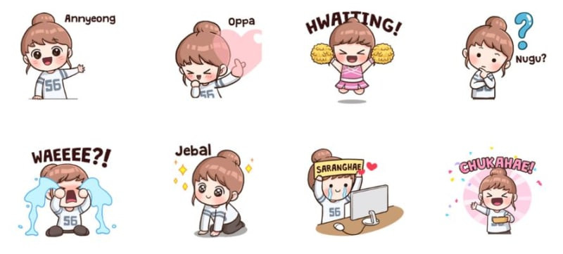 com-Sticker I Love KPOP