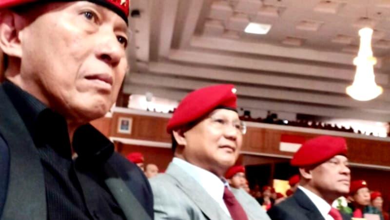 Prabowo dan Gatot di HUT Kopassus