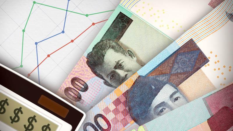 Ilustrasi pergerakan dolar-rupiah.
