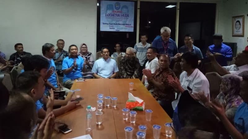 Deklarasi Relawan Indonesia Muda dukung Prabowo - Sandi, eks Jokowers, di Posko Melawai, Jalan Melawai, Jaksel.