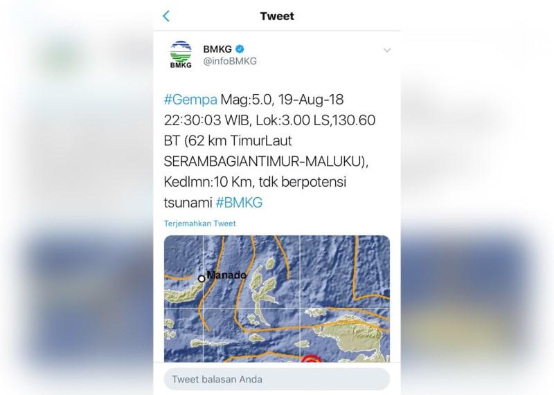 Gempa di Maluku
