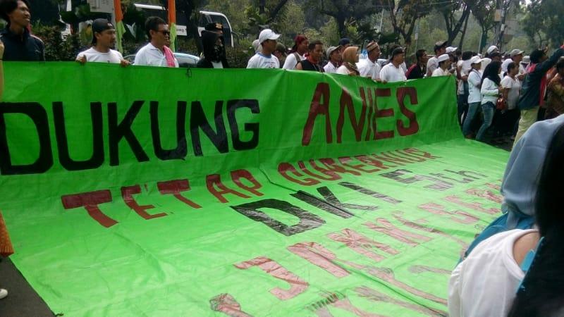 Demo, Gubernur DKI Jakarta, Anies Bawedan