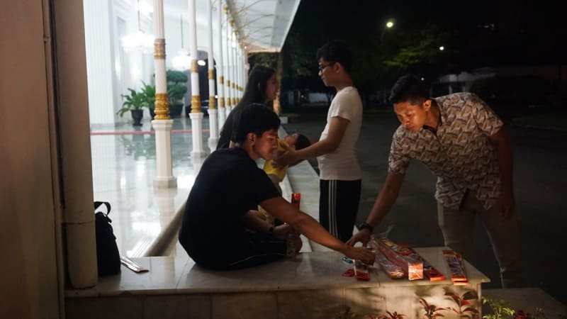Keluarga Jokowi menyiapkan malam tahun baru