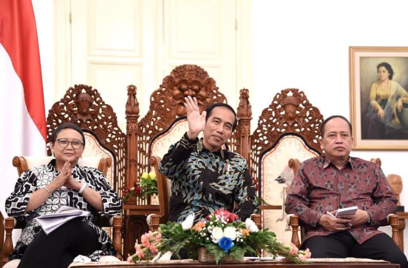Presiden Jokowi di Istana Bogor