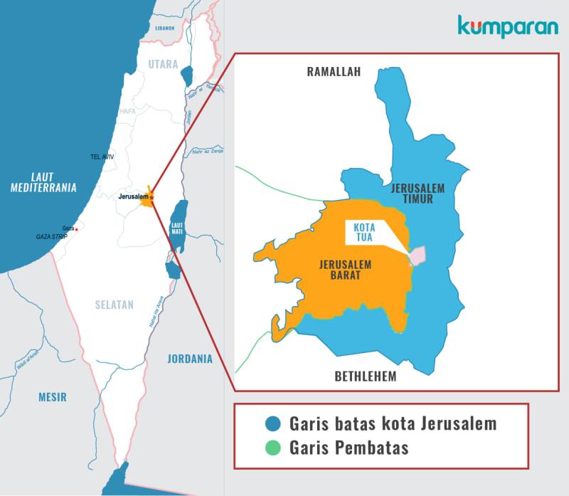 Peta Yerusalem