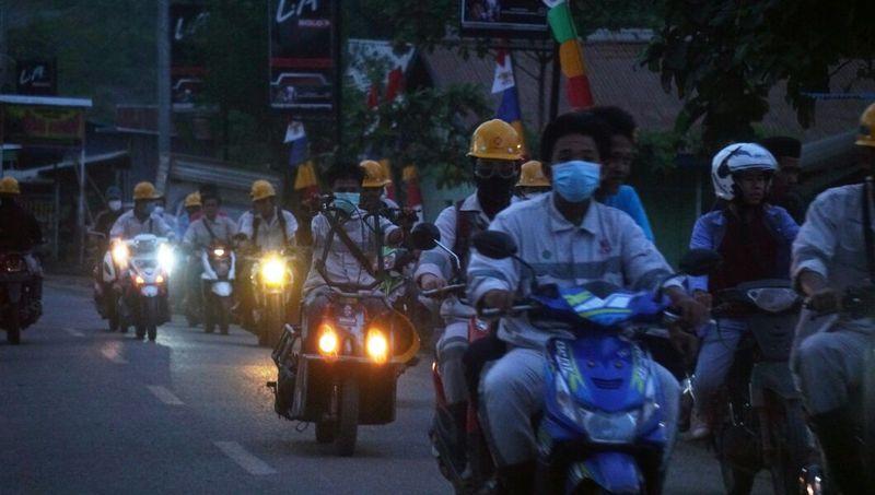 Sejumlah pekerja di Morowali, Sulawesi Tengah