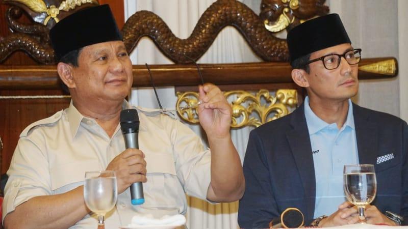 Prabowo-Sandi untuk polling