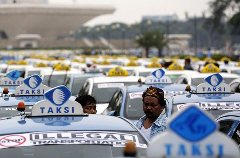Ilustrasi Demo Taksi Online