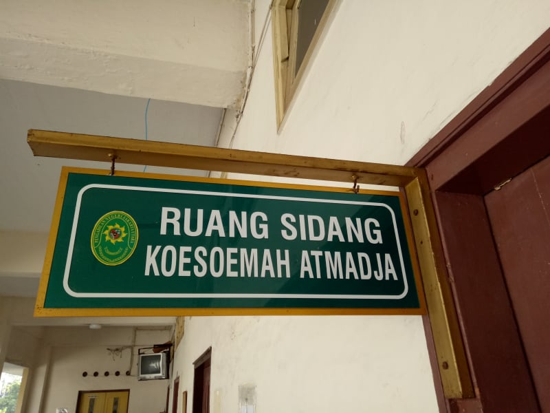 Ruang sidang Koesoema Atmadja Pengadilan Negeri Jakarta Pusat
