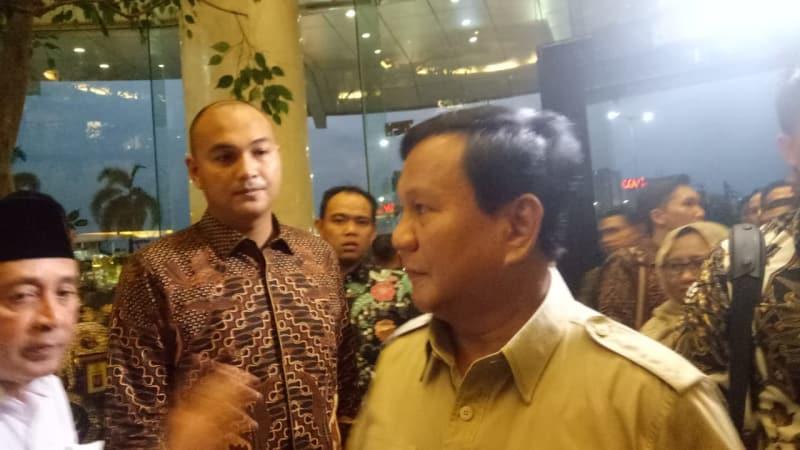 Ketum Gerindra Prabowo Subianto di Ijtima Ulama GNPF