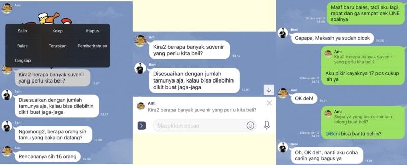 Fitur 'Reply' di Aplikasi Line