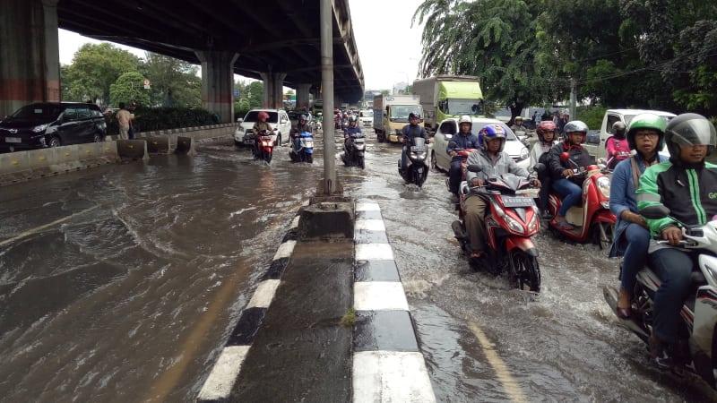 Beberapa Titik Jakarta Pusat masih banjir