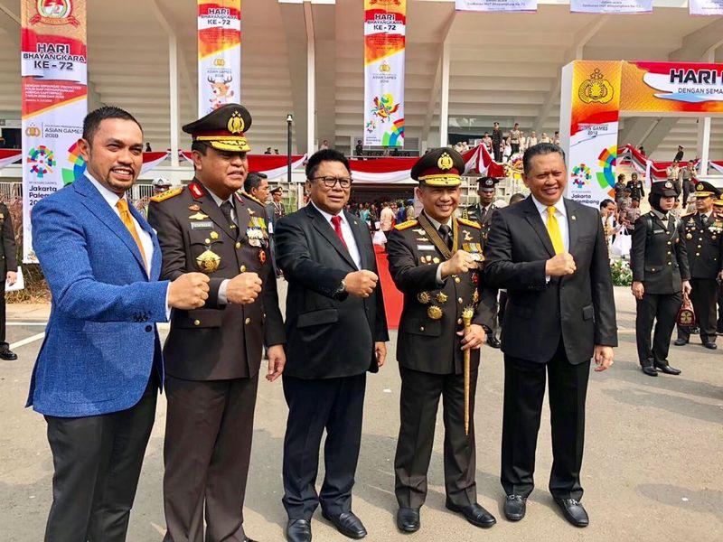Bambang Soesatyo dan Jajaran Polri
