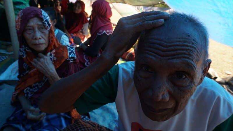 Korban Gempa Lombok, Desa Menggala, Kabupaten Lombok Utara, NTB