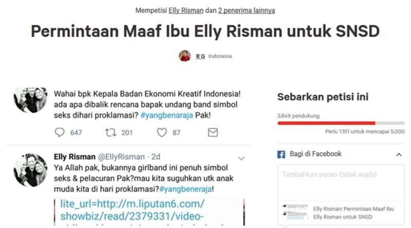 Petisi untuk Elly Risman