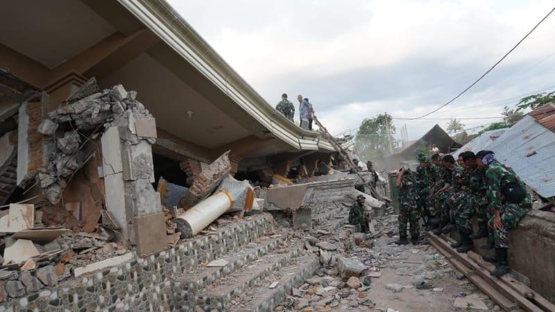gempa bumi, lombok, korba gempa