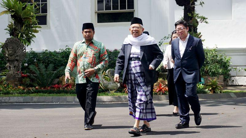 LIPSUS Cawapres Jokowi, KH Ma'ruf Amin di Kompleks Istana Kepresidenan