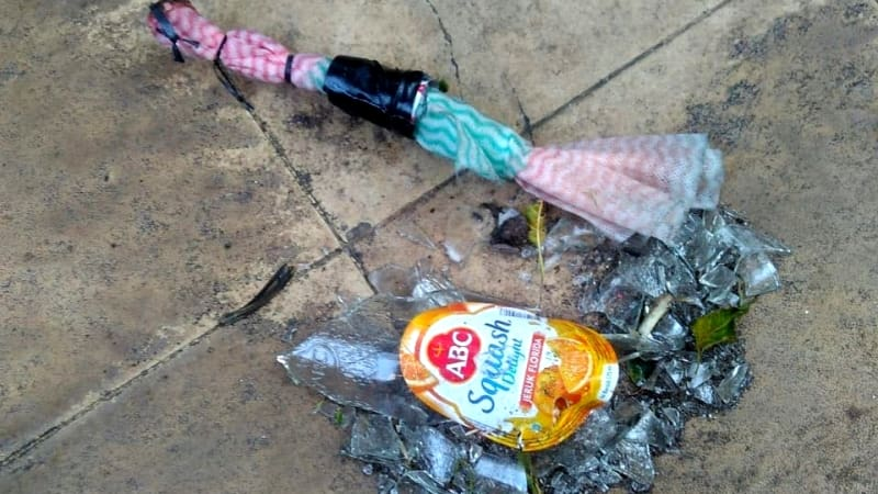 Barang bukti molotov di rumah Mardani Ali Sera