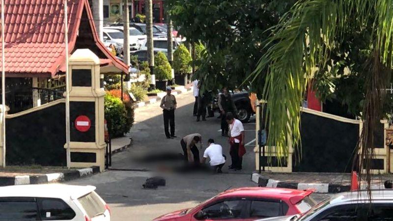 Dua jenazah terduga teroris di Mapolda Riau