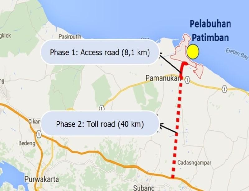 Lokasi pembangunan pelabuhan Patimban