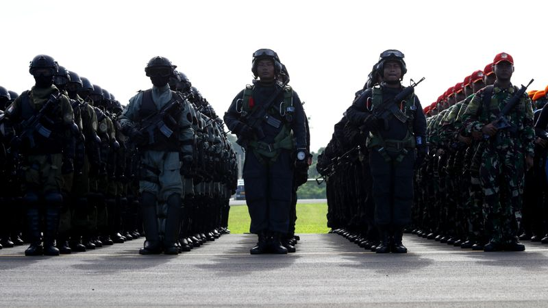 Aksi prajurit TNI AU