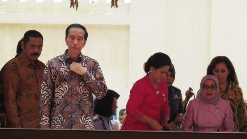 Peresmian Pasar Klewer Solo oleh Jokowi