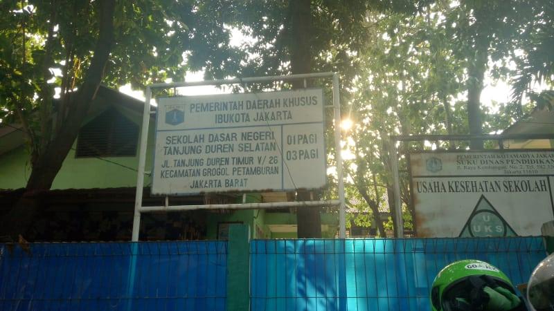 Suasana sekitar SD 01 Pagi Tanjung Duren