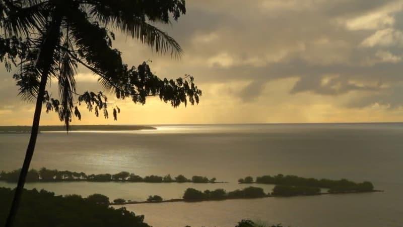 Pemandangan laut Micronesia.