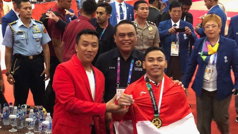 Chef de Mission (CdM) Kontingen Indonesia Syafruddin, Eko Yuli