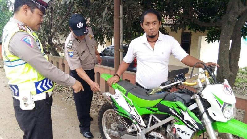 Polisi razia knalpot racing di Bogor