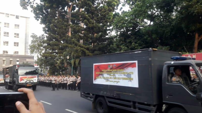 Pengiriman bantuan kemanusiaan, Gempa Lombok