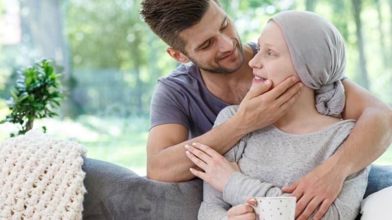Ilustrasi perempuan pengidap kanker