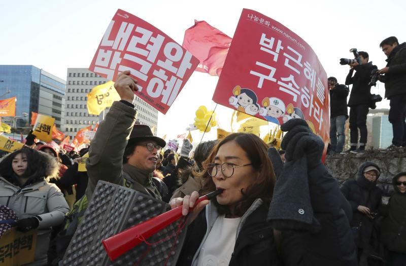 Masyarakat Korea Bersorak Usai Pengumuman Pemakzulan Presiden Park