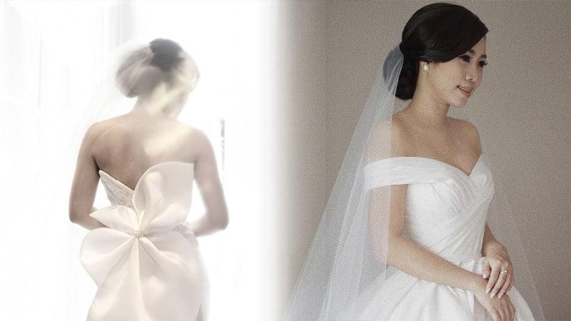 Gaun pengantin yang simpel dan klasik