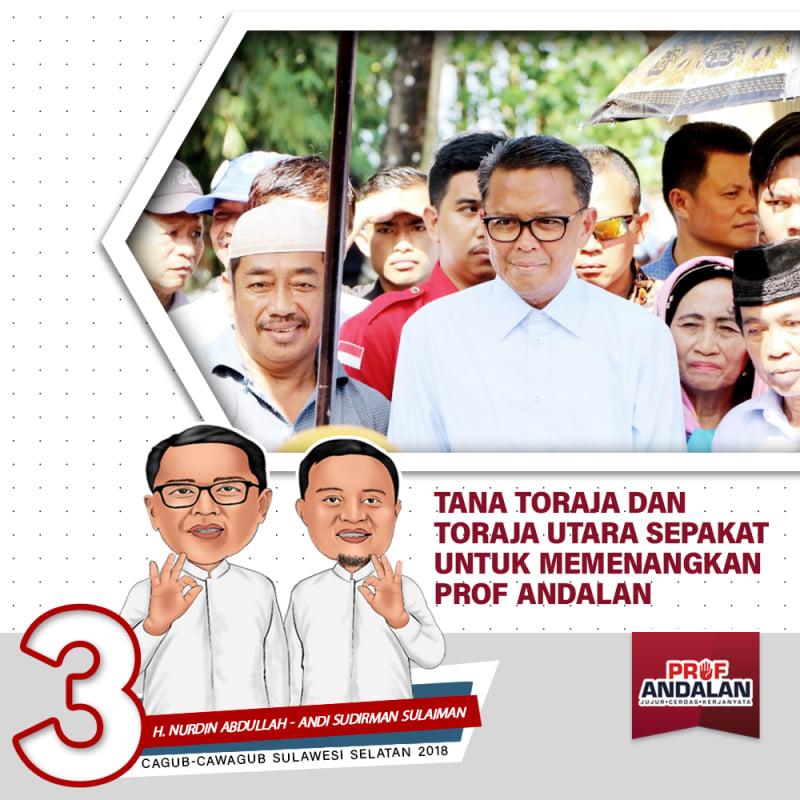 Tana Toraja Dan Toraja Utara Sepakat Untuk Memenangkan Prof Andalan