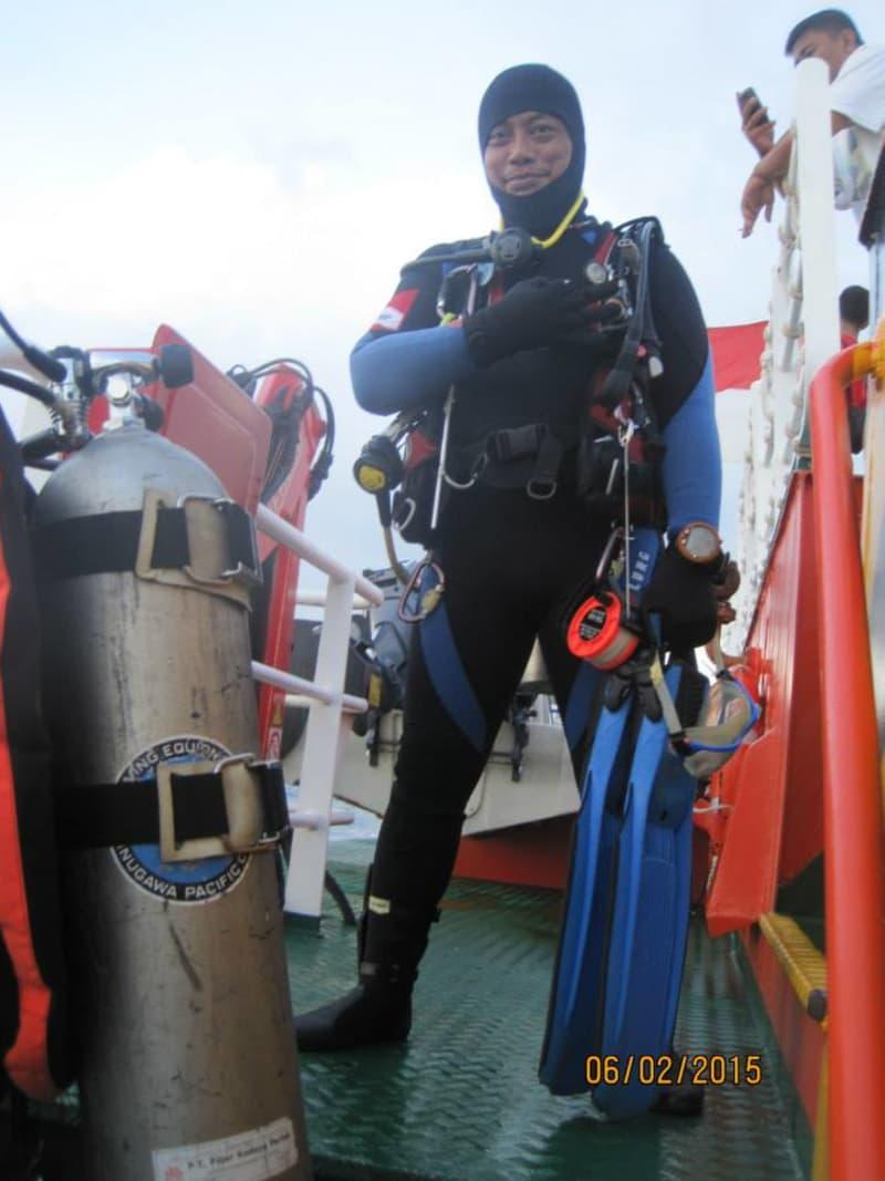 Syachrul Anto, penyelam Indonesian diver rescue team