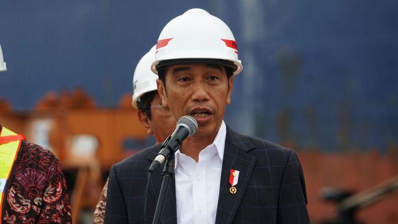 Presiden Jokowi di Pelepasan Ekspor Indonesia