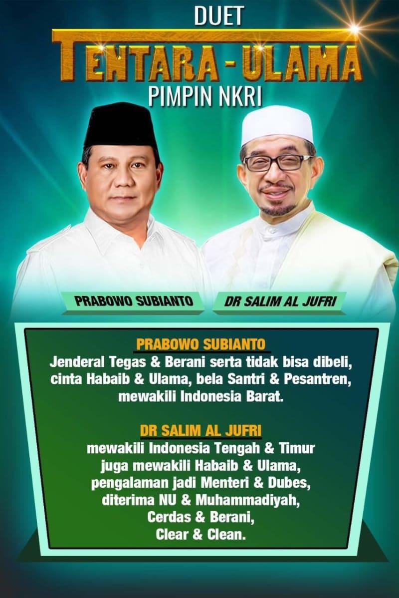 Poster Prabowo Subianto-Salim Segaf