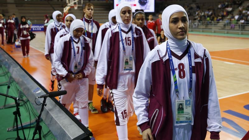 Kontingen Bola Basket Qatar di Asian Games, Hijab